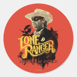 Lone Ranger - Defender of Justice! 2 Round Sticker