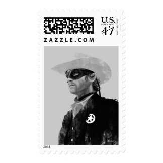 Lone Ranger John Reid - Black and White Postage