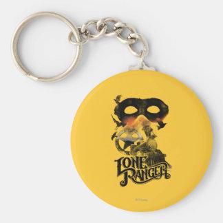 Lone Ranger Train and Mask Keychain