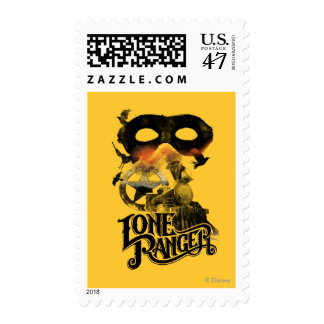 Lone Ranger Train and Mask Postage Stamp