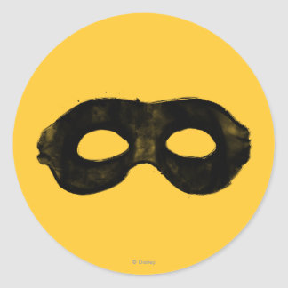 Lone Ranger's Mask 2 Classic Round Sticker
