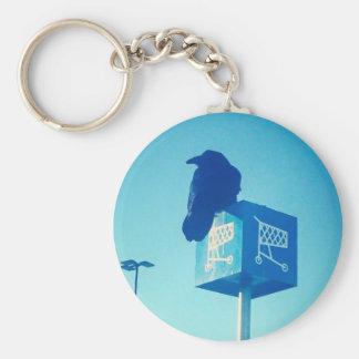 Lone Raven Walmart cart sign Keychain