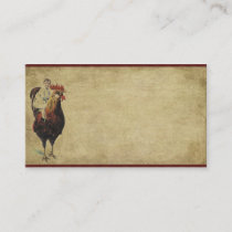 Lone Red Rooster- Prim Biz Cards