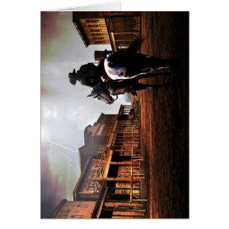Lone Rider Note Card