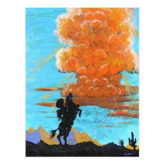 Lone Rider Thunderhead Postcard