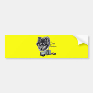 Lone Runner Bumper Sticker