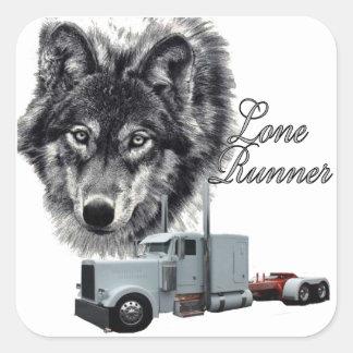 Lone Runner Square Sticker