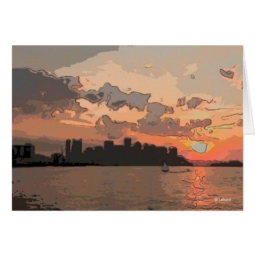 Lone Sailboat--postage Greeting Card