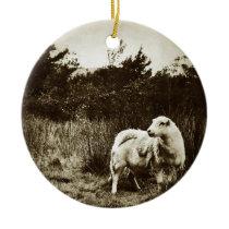 Lone Sheep Ceramic Ornament