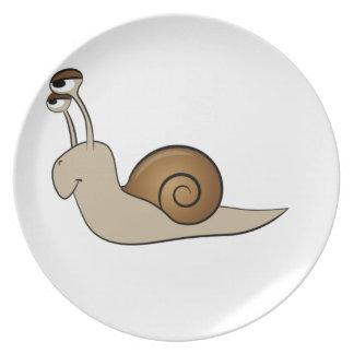 lone snail yeah melamine plate