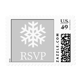 Lone Snowflake (B) Postage Stamp (RSVP Silver)