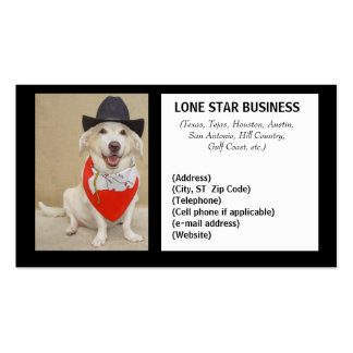 LONE STAR ANY BUSINESS Double-Sided STANDARD BUSINESS CARDS (Pack OF 100)