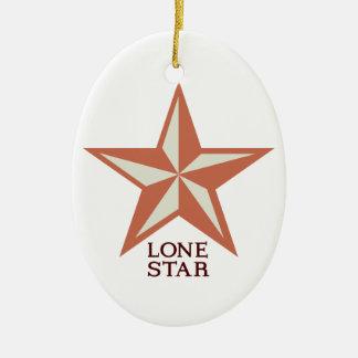 Lone Star Ceramic Ornament