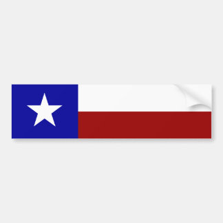 Lone Star Flag Bumper Sticker
