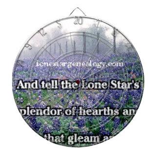 Lone Star Genealogy Poem Bluebonnet Dartboard With Darts
