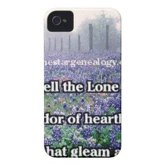 Lone Star Genealogy Poem Bluebonnet iPhone 4 Cover