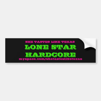 LONE STAR HARDCORE BUMPER STICKER
