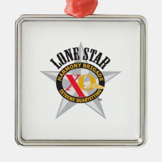 Lone Star Harmony Brigade Square Metal Christmas Ornament