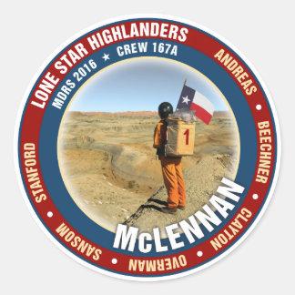 Lone Star Highlanders Crew 167A Classic Round Sticker