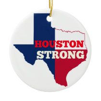 "Lone Star ""Houston Strong"" Ceramic Ornament"