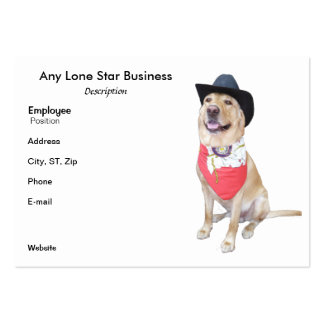 Lone Star Large Business Card