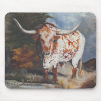 Lone Star Longhorn Mouse Pad