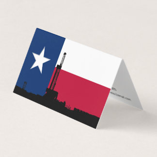 Lone Star Oil Drilling Rig Business Card