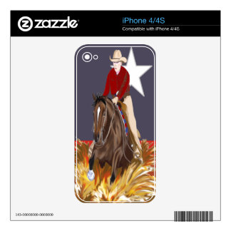 Lone Star Reining Horse iPhone 4/ 4S Skin iPhone 4S Skins