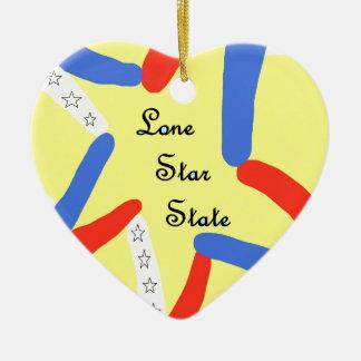 Lone Star State Ceramic Ornament