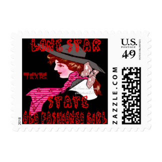 """""""Lone Star State-OLD FASHIONED GIRL"""" Postage Stamp"""