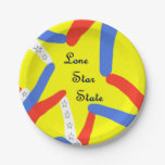 Lone Star State Paper Plate