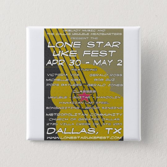Lone Star Uke Fest Poster Art Button