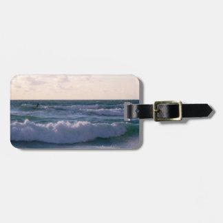 Lone Surfer at Fistral Beach Newquay Cornwall UK Bag Tag