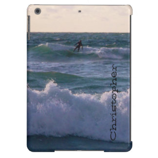 Lone Surfer at Fistral Beach Newquay Cornwall UK Case For iPad Air