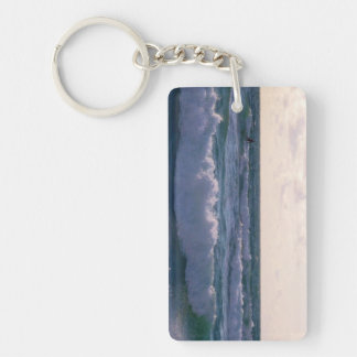 Lone Surfer at Fistral Beach Newquay Cornwall UK Keychain