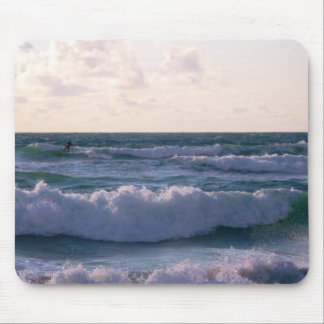 Lone Surfer at Fistral Beach Newquay Cornwall UK Mouse Pad