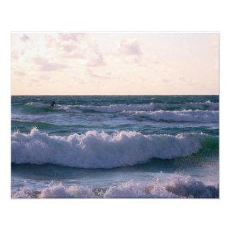 Lone Surfer at Fistral Beach Newquay Cornwall UK Photo Art