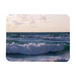Lone Surfer at Fistral Beach Newquay Cornwall UK Rectangular Photo Magnet