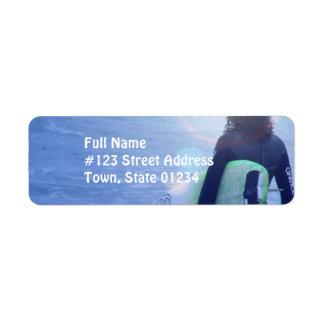 Lone Surfer Mailing Labels