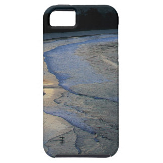 Lone surfer on scenic beach Sumba iPhone 5 Cases