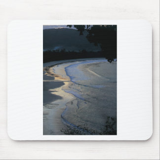 Lone surfer on scenic beach Sumba Mouse Pad