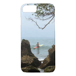 Lone surfer tranquility surfing iPhone 7 case