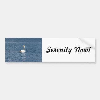 Lone Swan Bumper Sticker