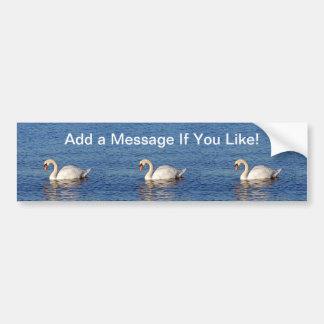 Lone Swan Elegance Scenic Nature Car Bumper Sticker