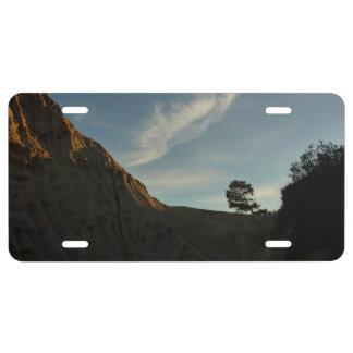 Lone Torrey Pine California Sunset Landscape License Plate