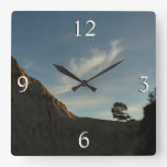 Lone Torrey Pine California Sunset Landscape Square Wall Clock