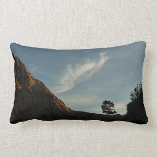 Lone Torrey Pine California Sunset Throw Pillow