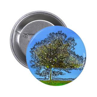 LONE TREE 2 INCH ROUND BUTTON