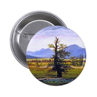 Lone Tree - by Caspar David Friedrich Buttons