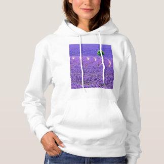 Lone tree in Lavender Field, France Hoodie